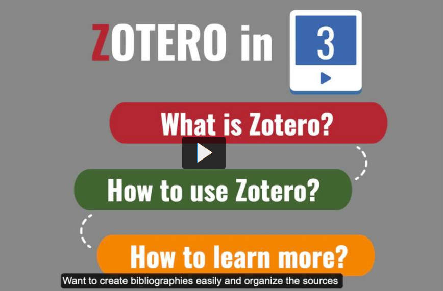 Intro to Zotero video