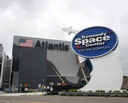 Space Shuttle Atlantic Exhibits Photograph