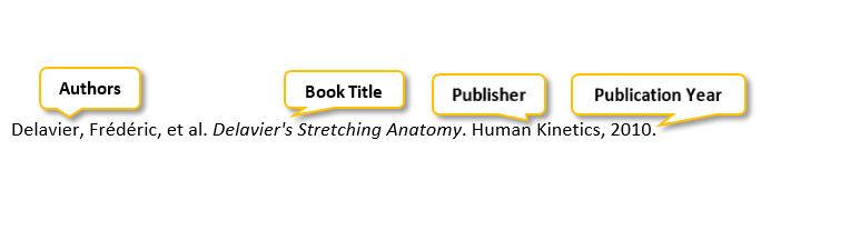 Delavier comma Frédéric comma et al period Delavier's Stretching Anatomy period Human Kinetics comma 2010 perio