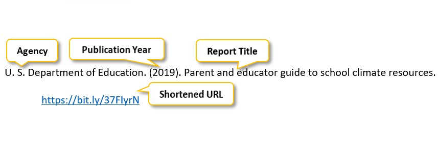 U period S period Department of Education period parenthesis 2019 parenthesis period Parent and educator guide to school climate resources period https://bit.ly/37FIyrN