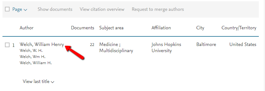 Scopus Author Single Match Results