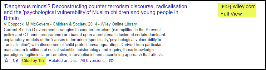 Citation Chasing Article Cited By using Google Scholar