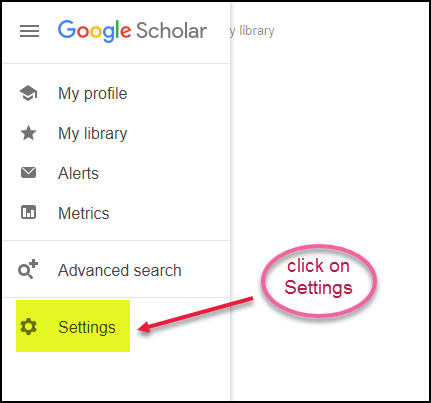 Google Scholar Library Links Step 2 Settings