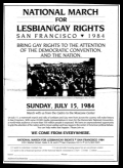 Poster for Lesbian Gay Rights March