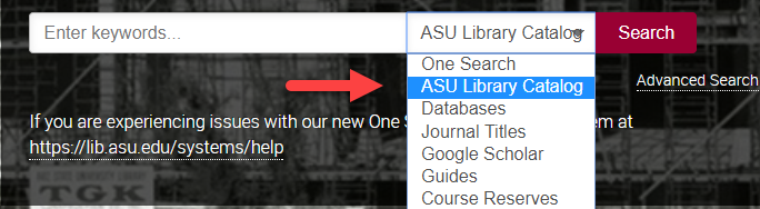 ASU Library Catalog