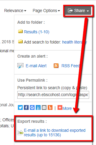 A screenshot on where to find that link in an EBSCO database
