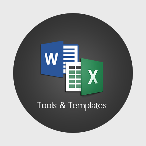 Logos of MS Word and MS Excel