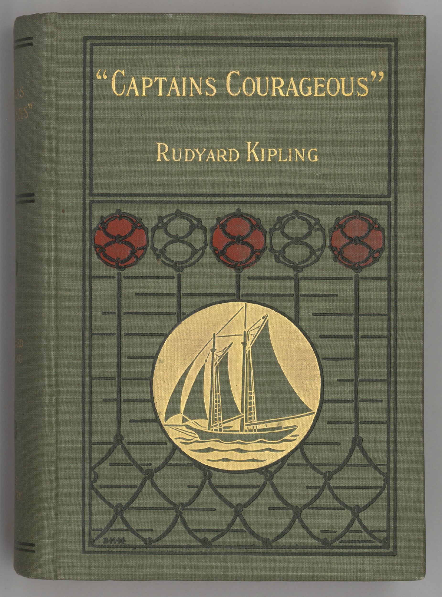 "1897 edition cover of ""Captains Courageous"""