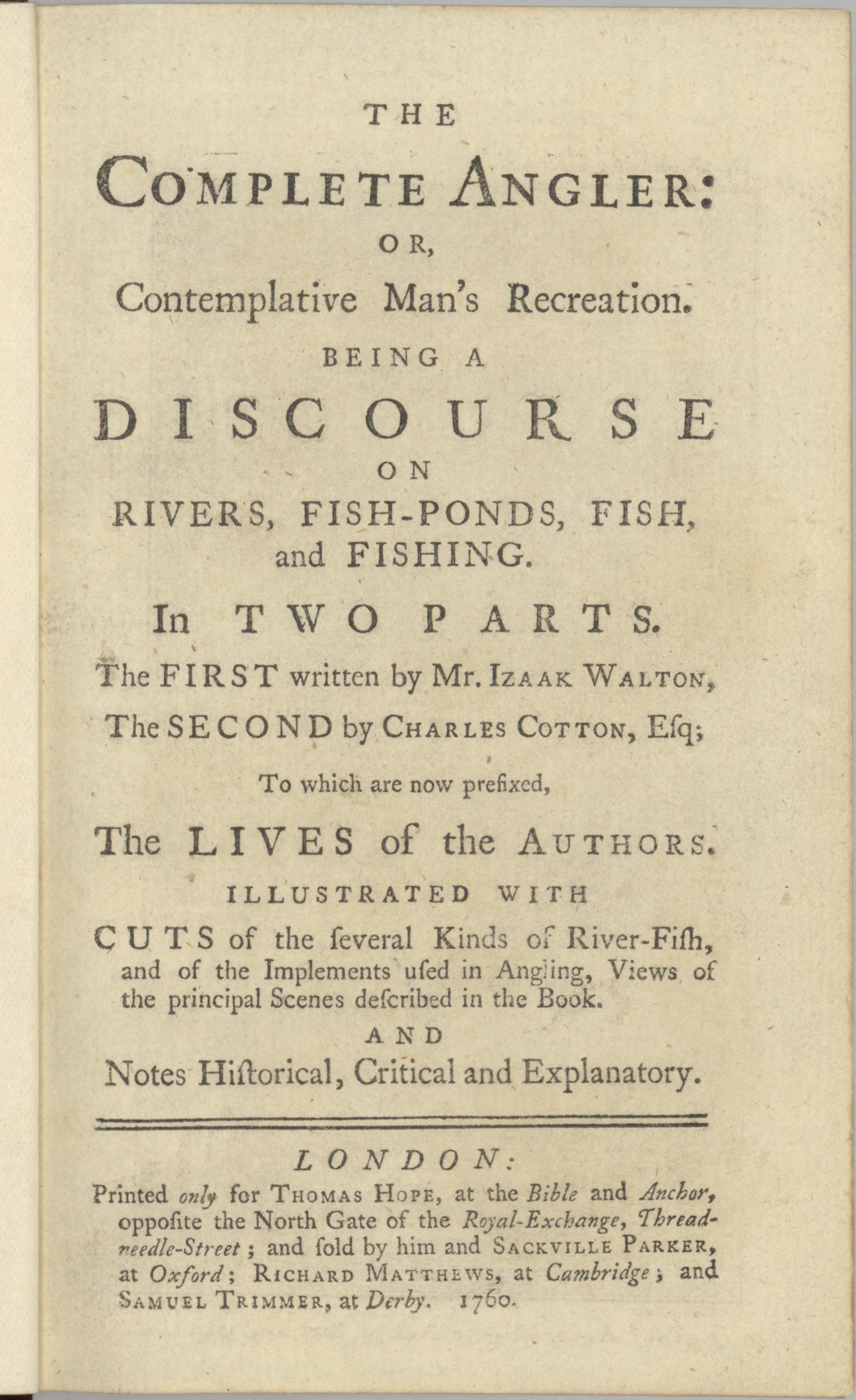 1760 Edition Title Page