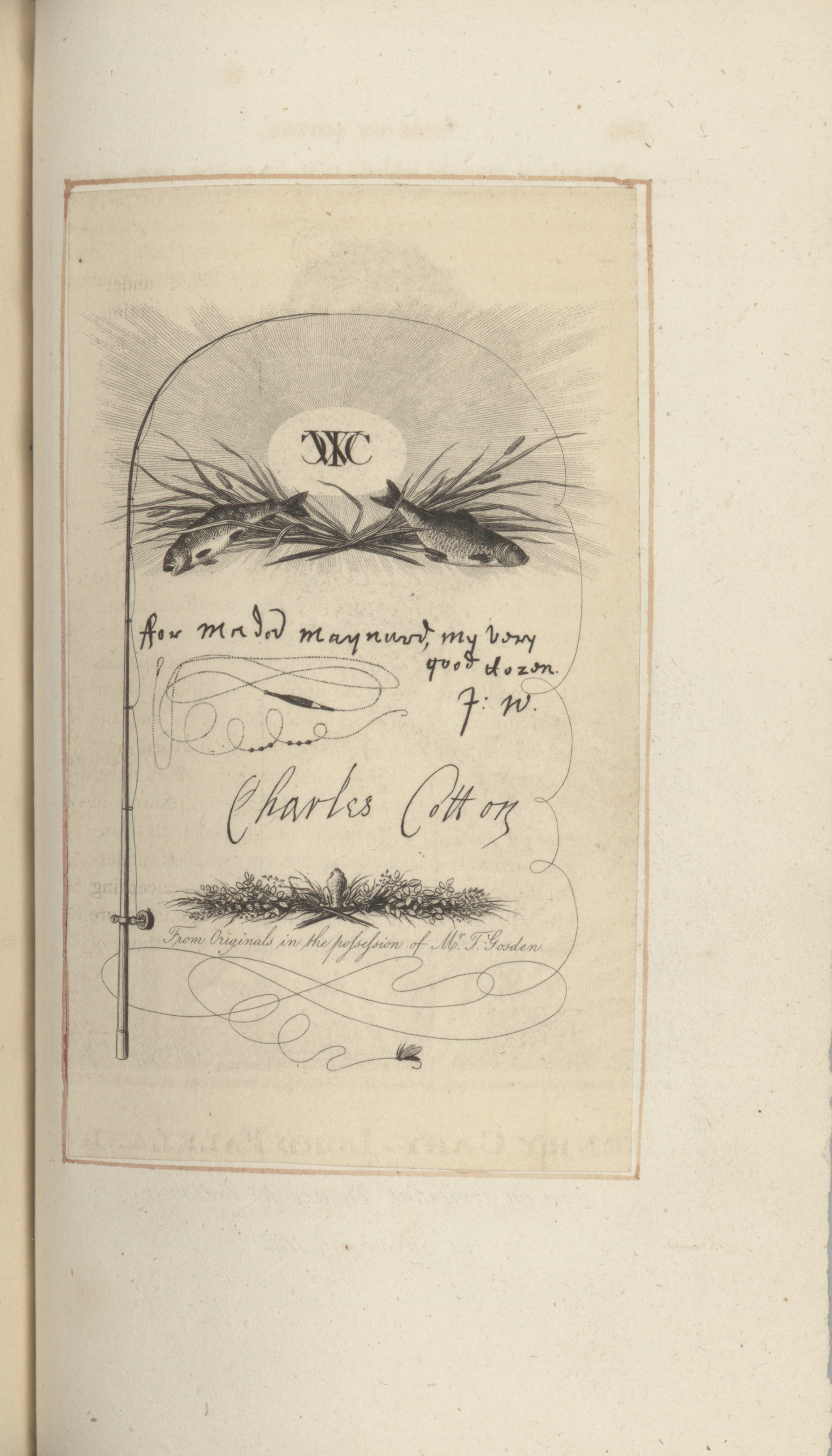 Charles Cotton's Signature in the 1815 Edition