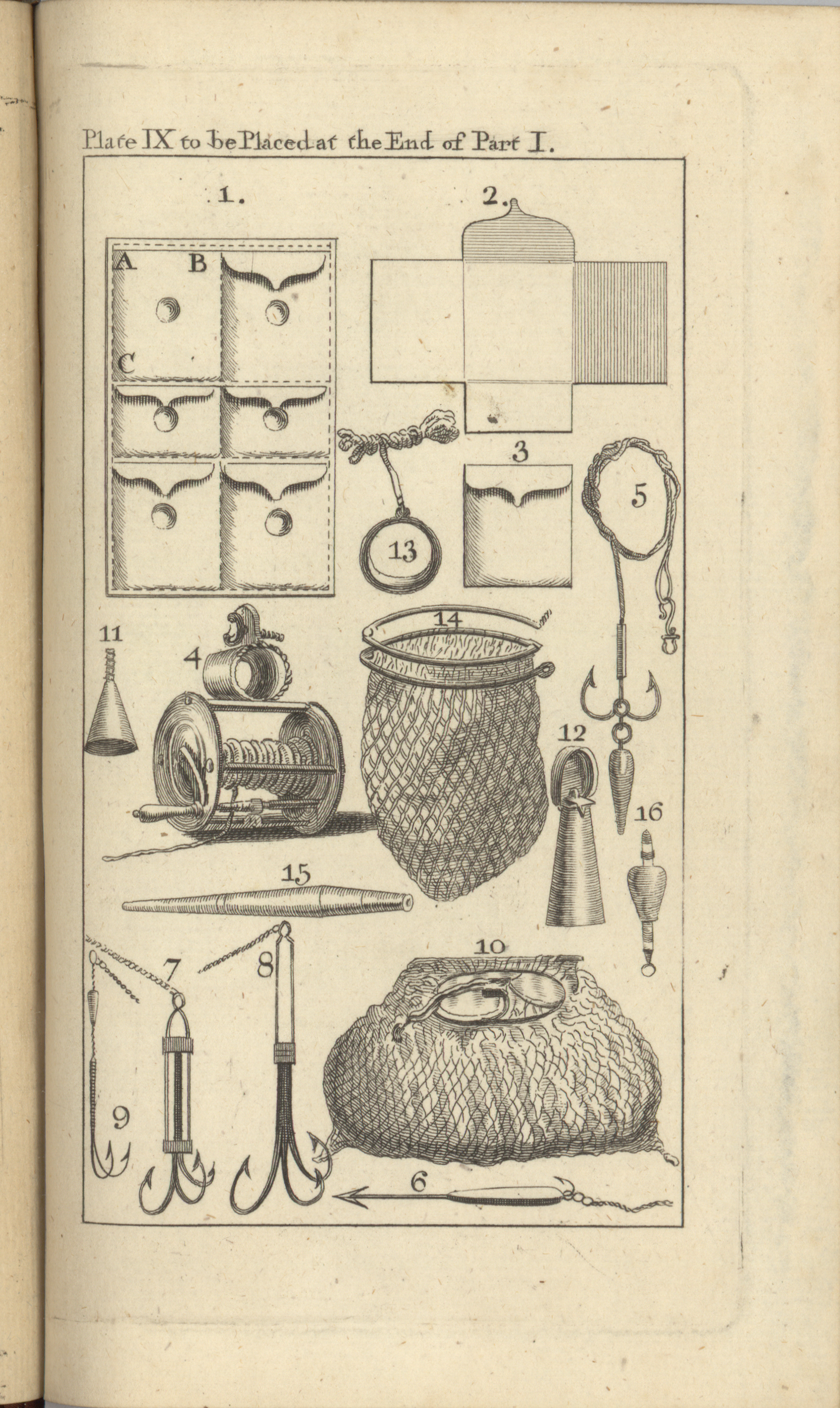 1760 Edition Diagrams of Fishing Gear