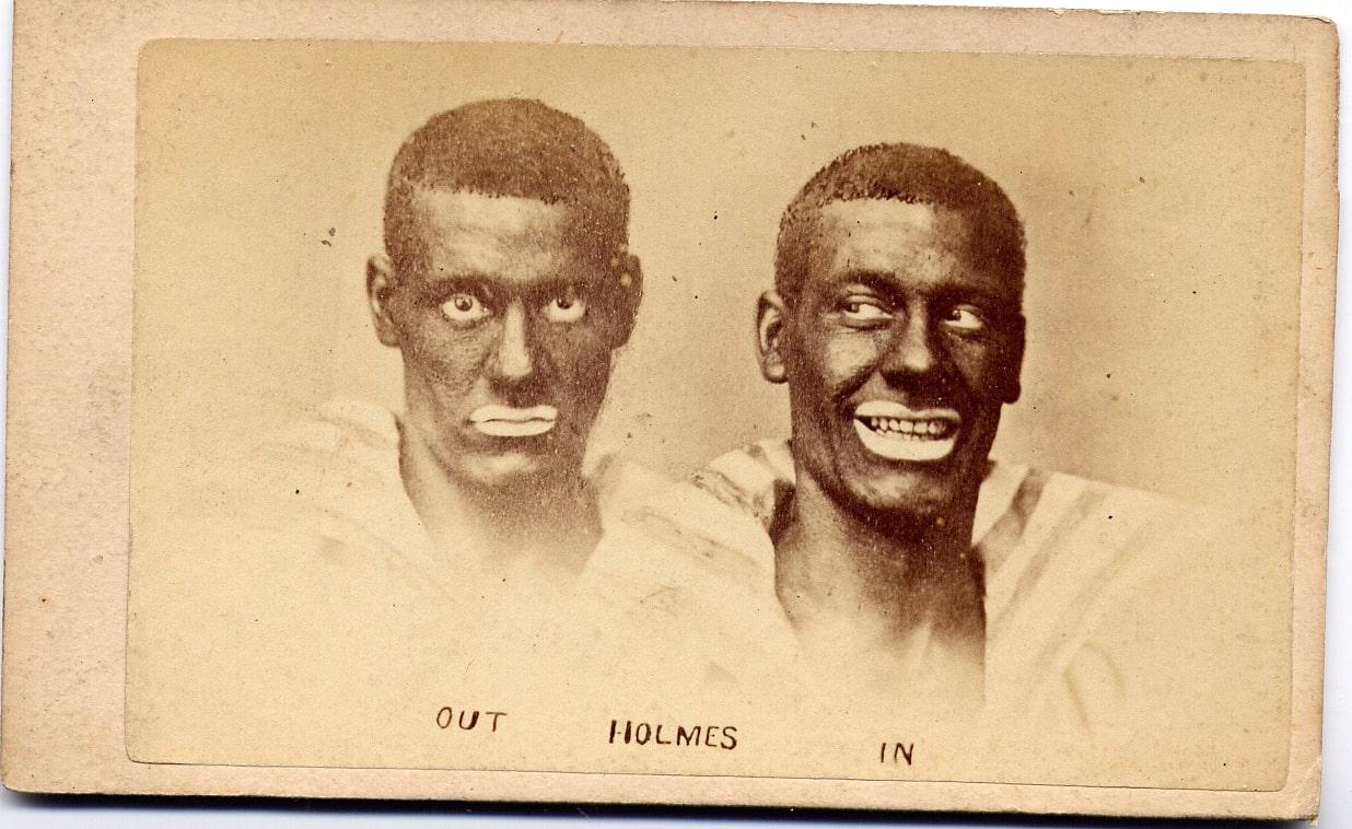 Two blackface minstrel actors