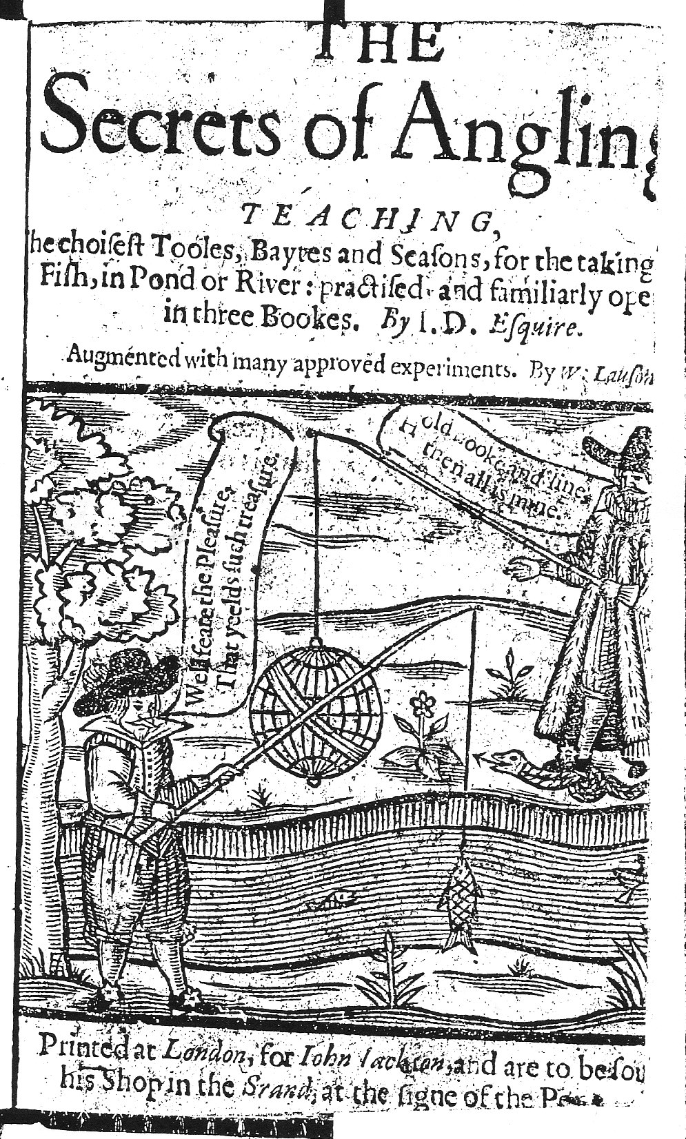 Secrets of Angling 1630 Title Page