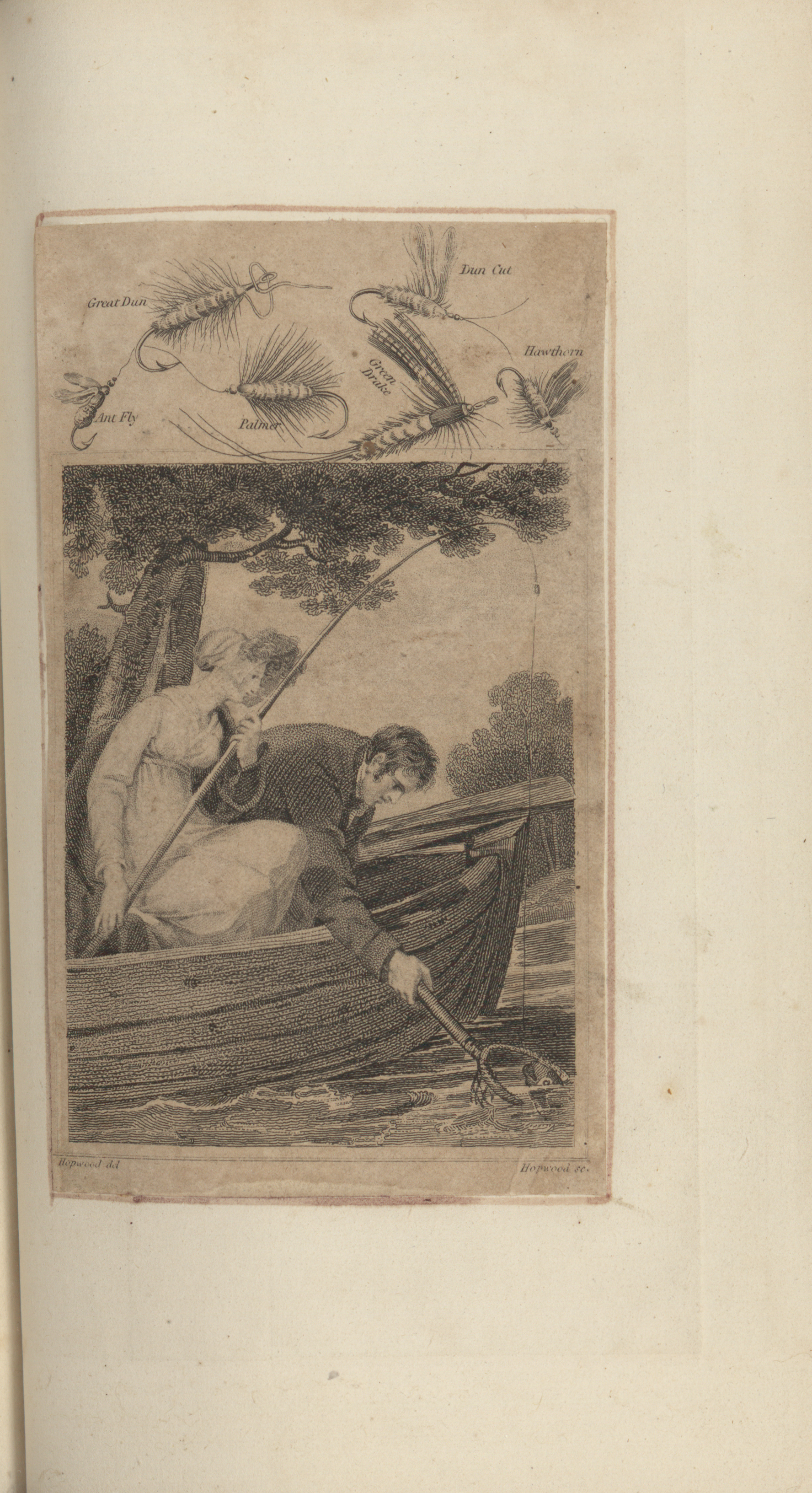Man and Woman Fishing in Boat