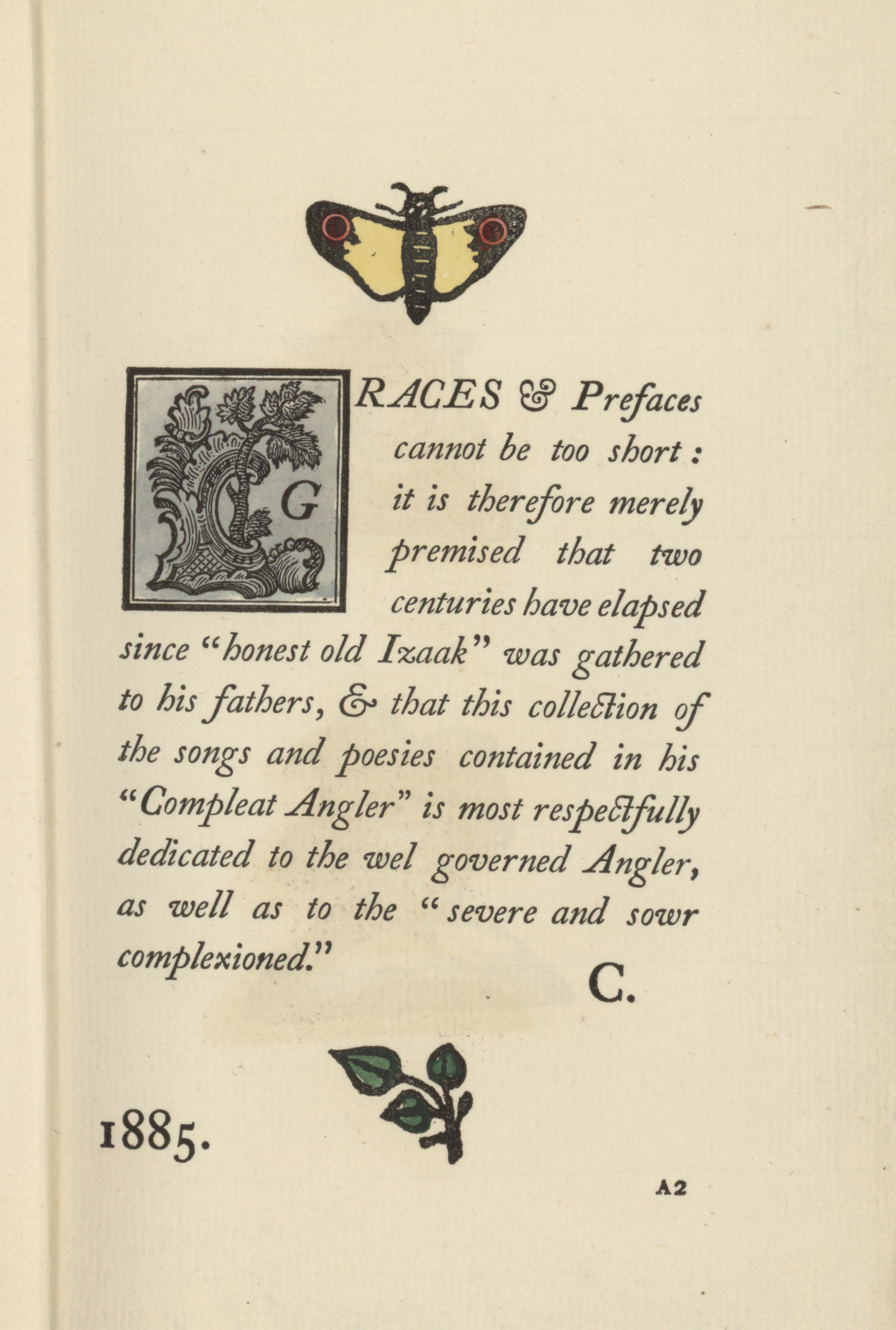 1855 Page with Moth