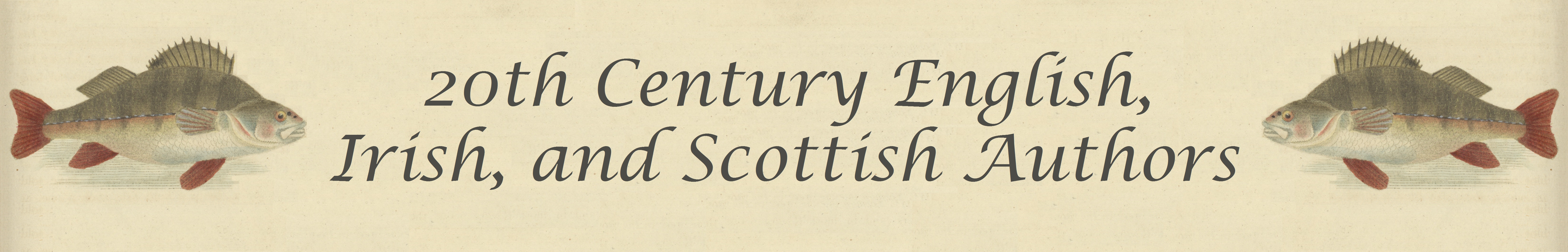20th Century Authors Banner