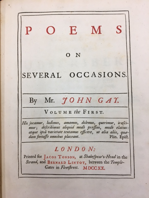 Poems on Several Occasions Title Page