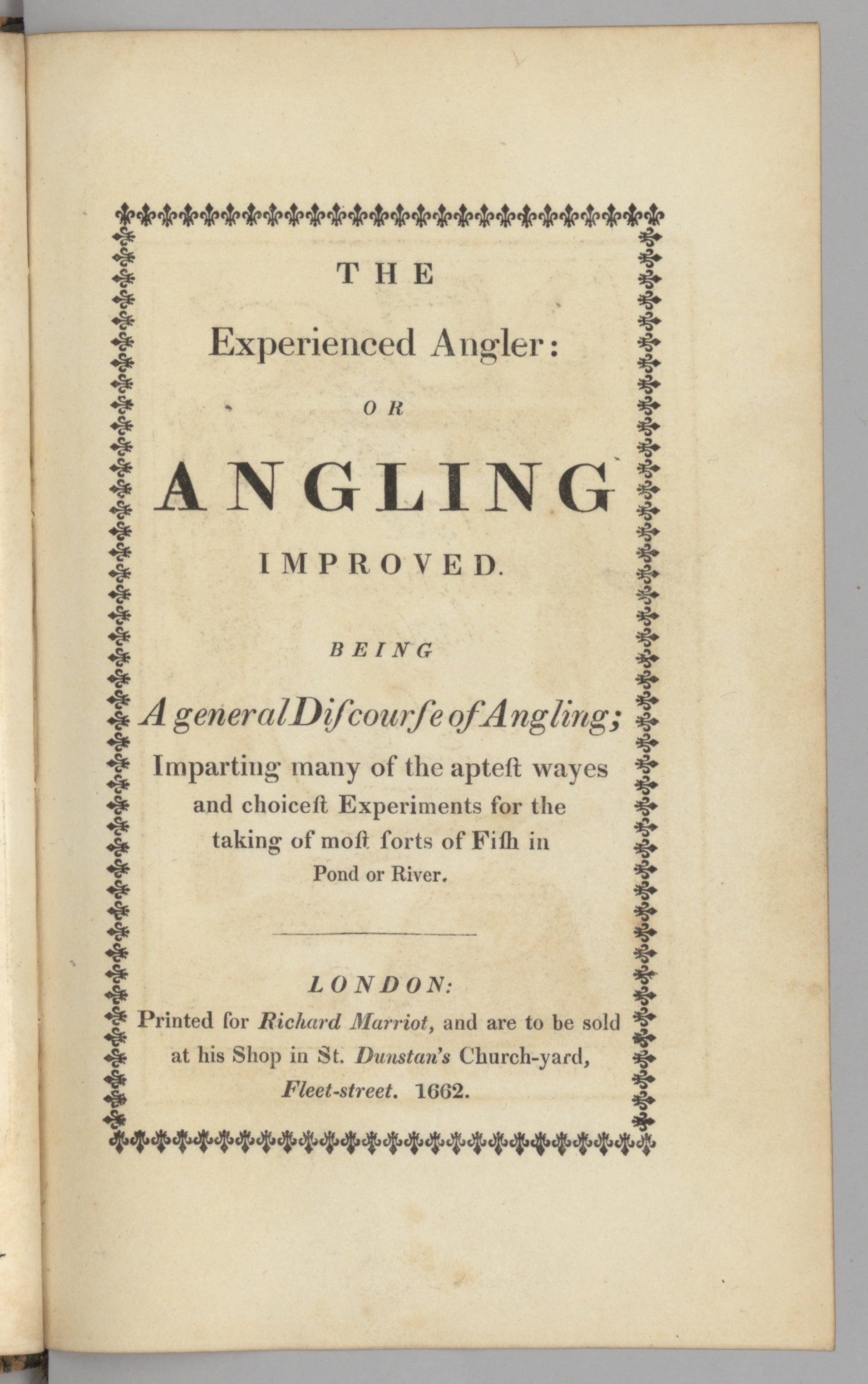 The Experienced Angler Title Page