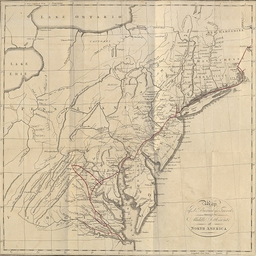 Andrew Burnaby map of his travels