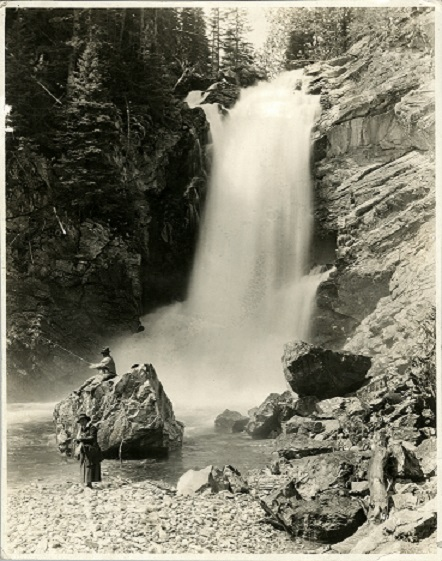 Mary Roberts Rinehart at Stehekin River waterfall