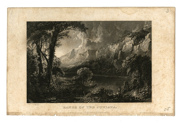 Banks of the Juniata engraving