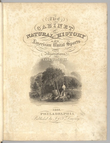 Cabinet of Natural History Volume 2 title page