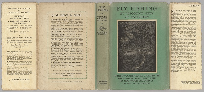 Fly Fishing by Viscount Fallodon full dust jacket