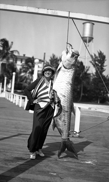 Rinehart with tarpon in Keys