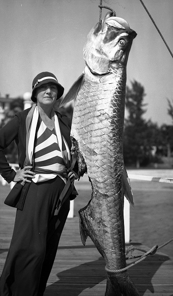 Close-up of Mary and the tarpon