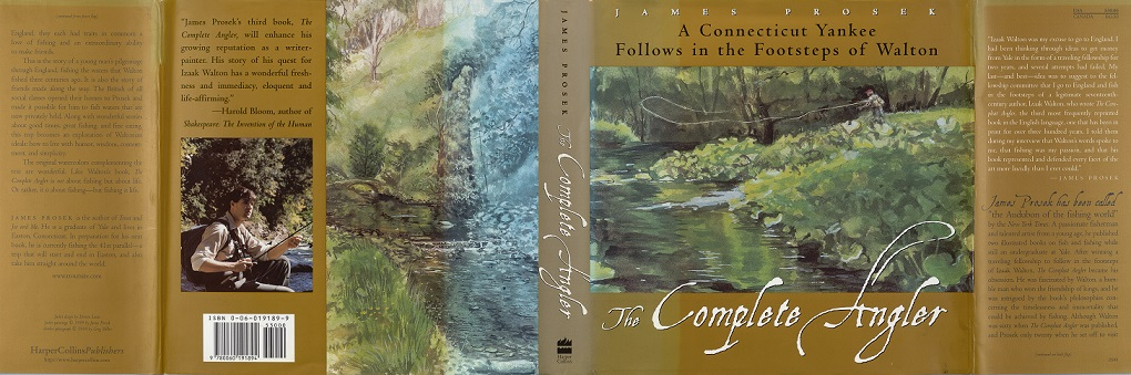 Full dust jacket of The Compleat Angler: A Connecticut Yankee Follows in the Footsteps of Walton