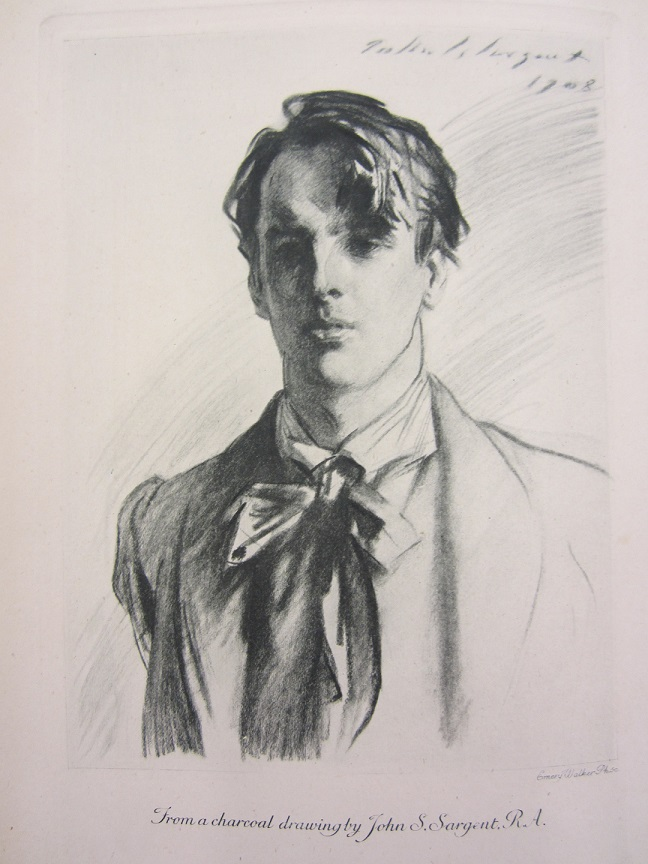 Charcoal drawing of young William Butler Yeats
