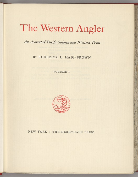 Western Angler title page