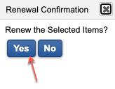 Renewal confirmation screenshot