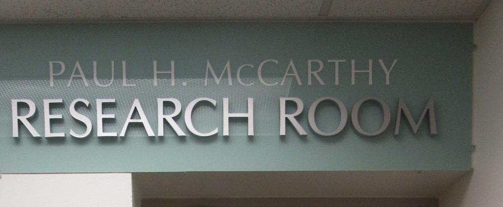 Paul H. McCarthy Research Room