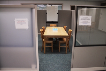 Rasmuson Library Open Study Cubicle on the 3rd Floor