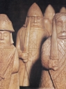 The terrible Vikings. These robust chessmen come f
