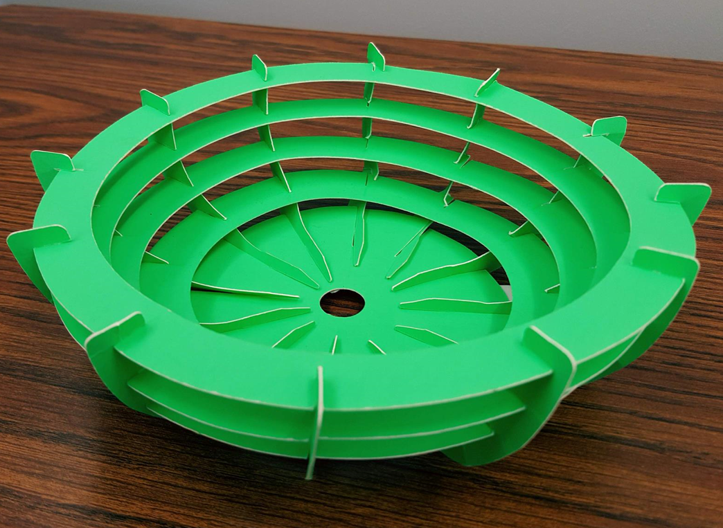 3D poster-board bowl