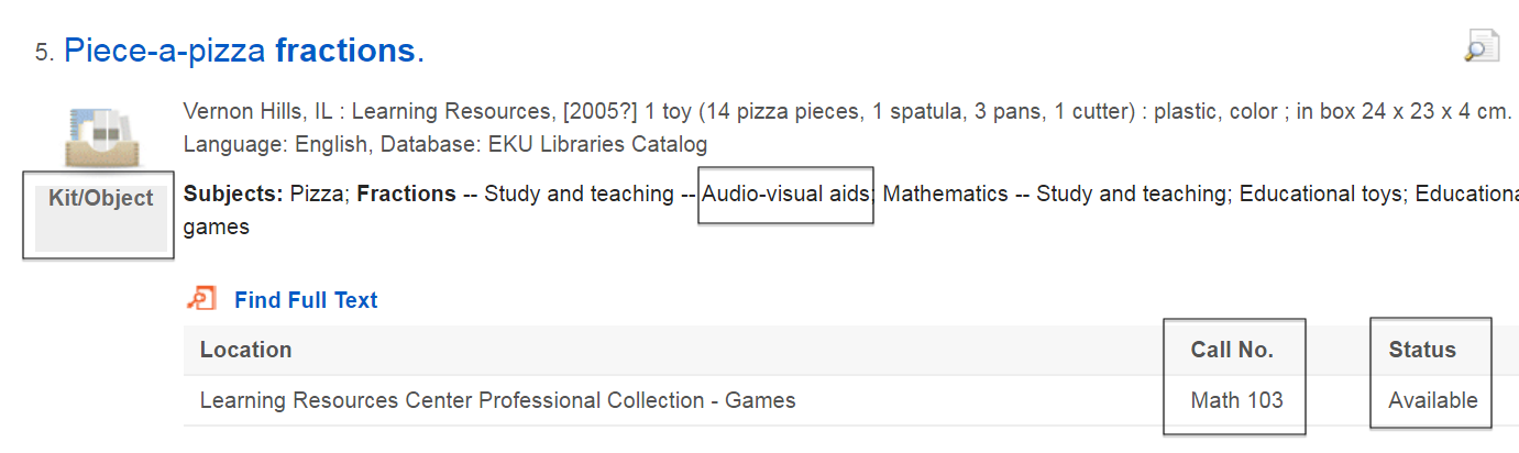 "sample search result showing the educational tool ""Piece-a-pizza fractions"""