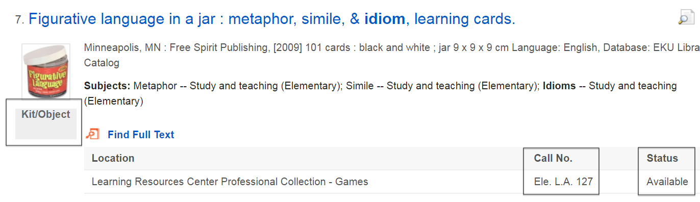 """sample search result showing the teaching tool """"Figurative language in a jar"""""""