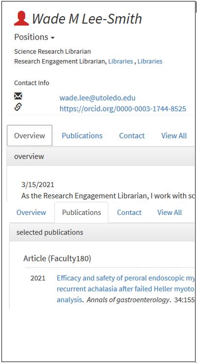 Scholars Profile Fields