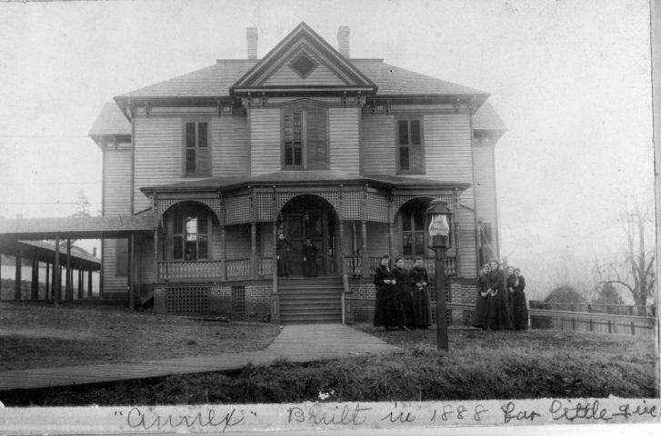 Photo of Annex Hall taken late 19th century...built for youngest girls with bedrooms and classrooms. Now the Rondathaler-Gramley House.