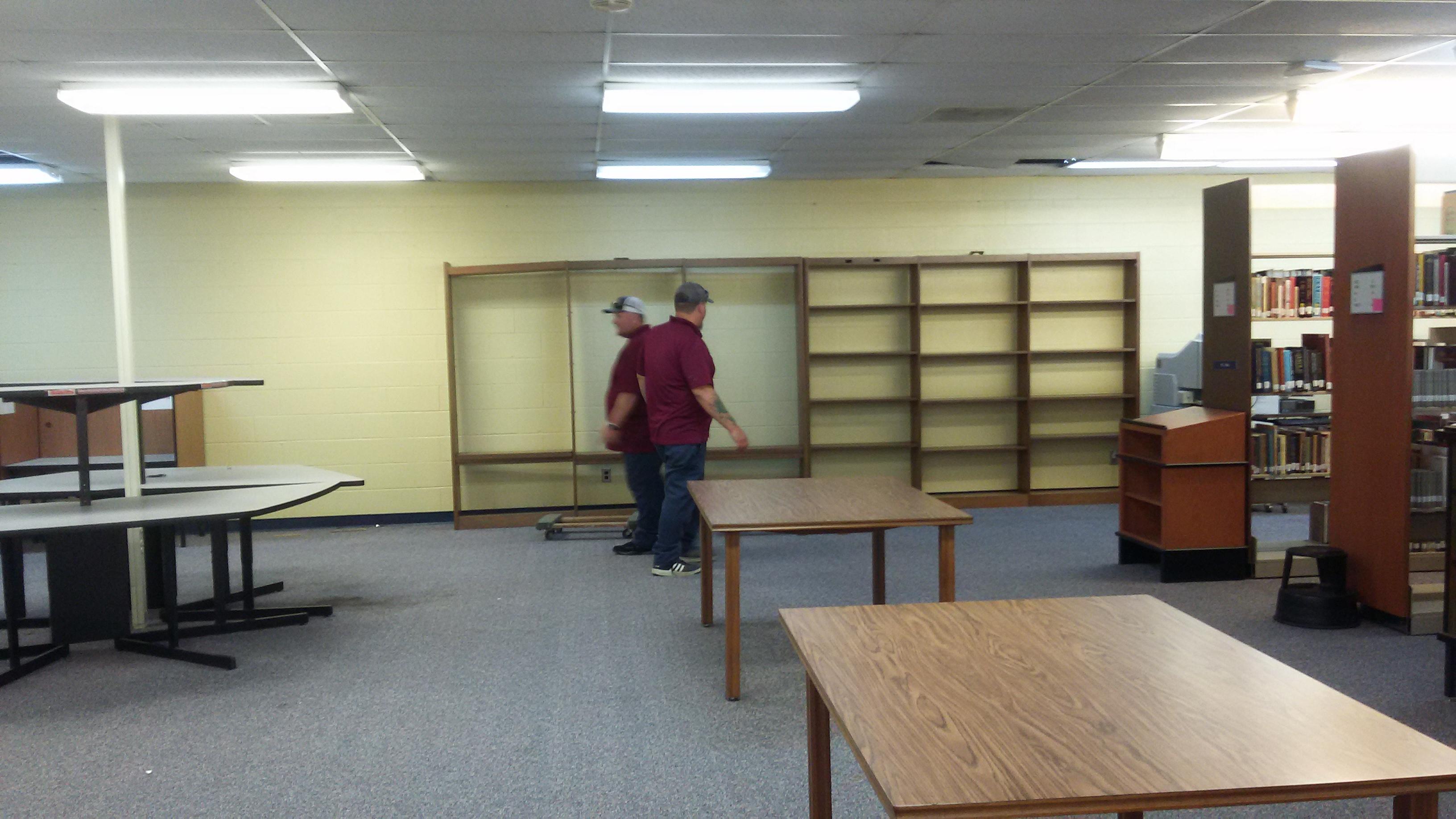 Taking down shelves