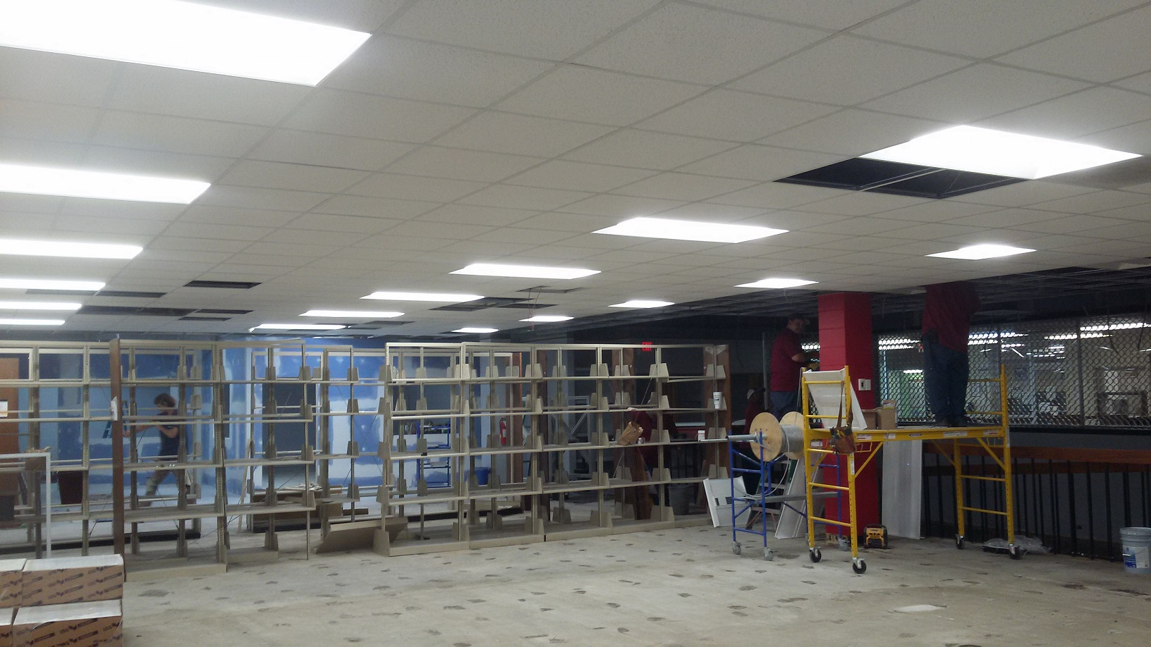 New Library ceiling