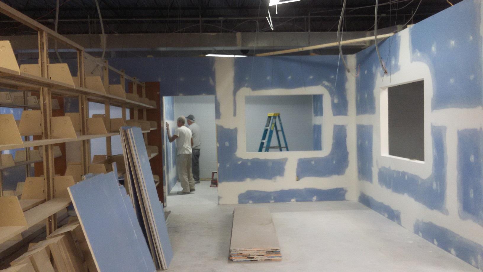 Mudding the drywall