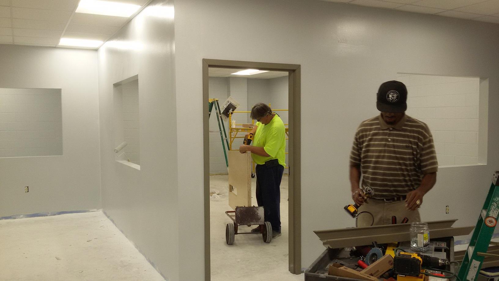Installing doors in new rooms
