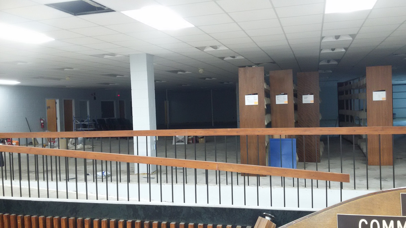 View of library from hall