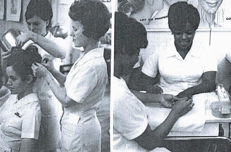 Cosmetology students from the past