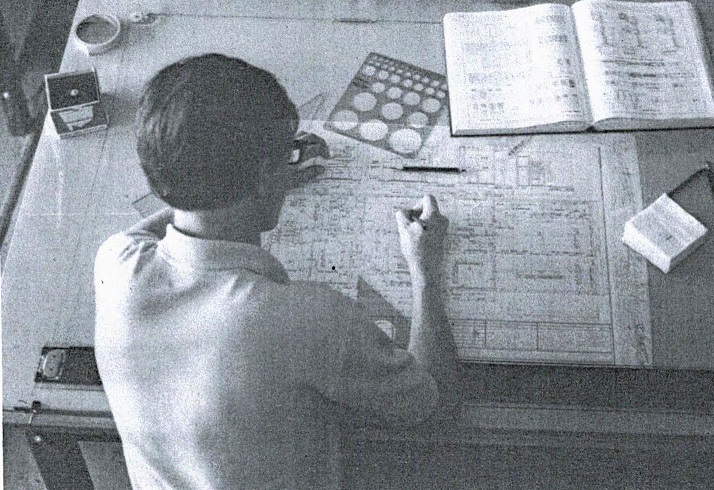 Drafting Student 1970s