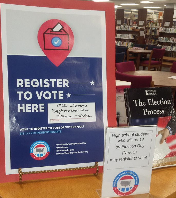 Register to Vote Display