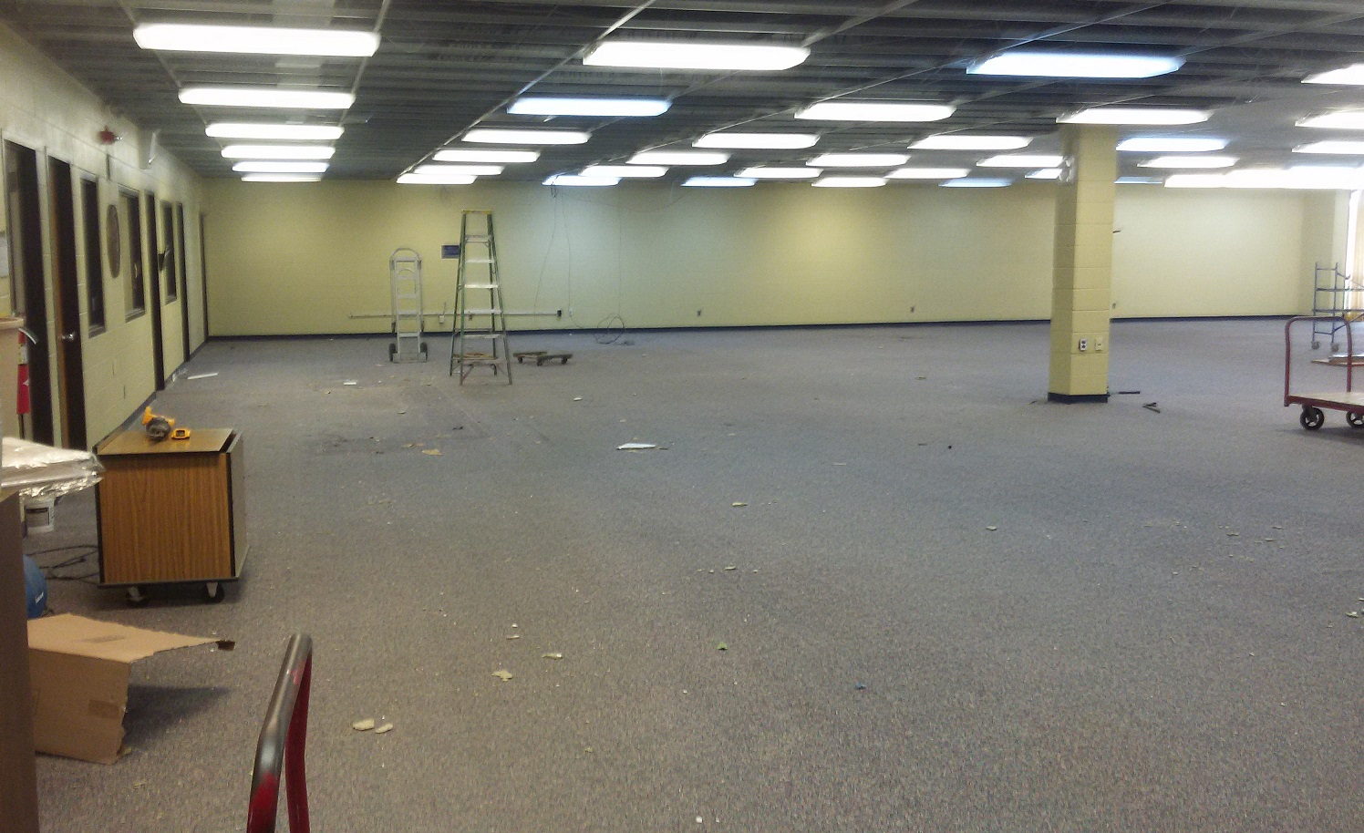 Library renovation - cleared out space